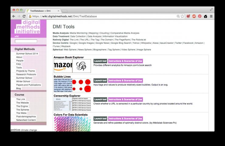 DMI tools page